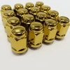 (Set of 10) 12X1.50 19Hex TPi Steel Bulge Acorn Wheel Nut Gold