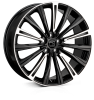 20x8.5 5x120 ET48 HAWKE Chayton Black Highlighted
