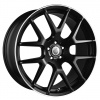 Cades Comana Alloy Wheels 22 inch 5x112 (ET30) | Matt Black lip Polish x 4 | fits Bentley GT and GTC models