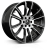20x9 6-114 ET40 Hawke Wheels Denali Black Polish