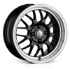 Cades Eros Alloy Wheels 15 inch 4x108 (ET35) | Black lip Polish x 4