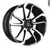 HAWKE Falkon Alloy Wheels 22 inch 5x120 (ET42) | Black Polish x 4