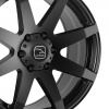 HAWKE Knox XL Alloy Wheels 22 inch 6x139 (ET30) | Matt Black x 4
