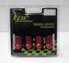 12x1.25 19 Hex TPi Alloy Tapered Locking XR Wheel Nuts Red