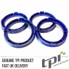 Set of Four Spigot Rings 72.5 - 56.6 Tpi Reflex Blue