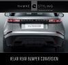 VELAR Black Pack - Rear Bumper trim & Exhaust conversion + Gloss Black front Grille
