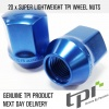(Set of 10) 12X1.50 19Hex 28mm TPi Xr Alloy Racing Nut Blue
