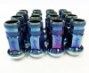 Bundle of 4 Packs (Total 16) 12X1.50 17Hex 45mm TPi Knurled Blue Titanium Race Nut (packs of four)