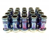 Bundle of 5 Packs (Total 20) 12X1.25 17Hex 45mm TPi Knurled Blue Titanium Race Nut (packs of four)