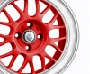 Cades Eros Alloy Wheels 15 inch 4x100 (ET30) | Red/White lip x 4