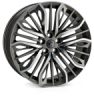 HAWKE Vega Alloy Wheels 22 inch 5x108 (ET42) | Gunmetal Polish x 4 | fits Range Rover Evoque, Velar and Jag F-Pace models