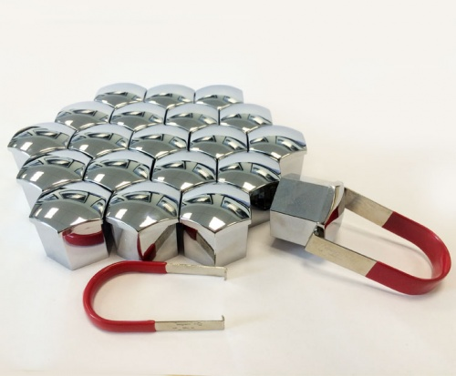 Wheel Nut Covers 22mm Chrome TPi x 20