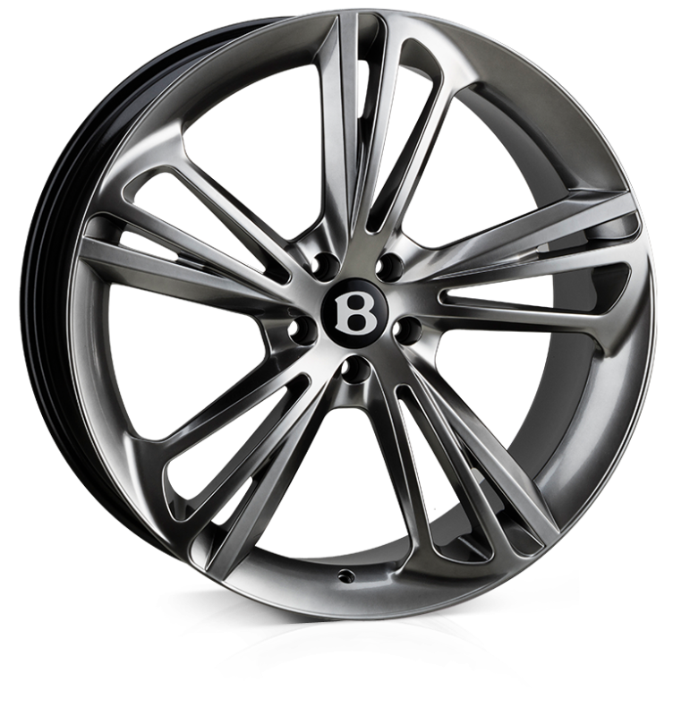 Hawke Aquila 22 inch wheel finished in Hyper Black (Dark Silver); drilled to 5-112 stud pattern