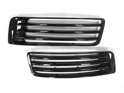 L405 Upgrade Bumper fins AB style Full Black compatible with Range Rover Vogue L405 2013 Onwards