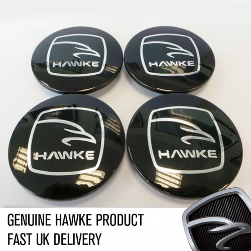 HAWKE Alloy Wheel Centre Caps - Black