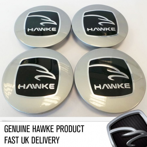 HAWKE Alloy Wheel Centre Caps - Silver