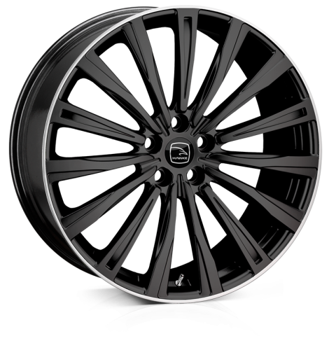 HAWKE Chayton Alloy Wheels 20 inch 5x108 (ET45) | Black lip Polish x 4