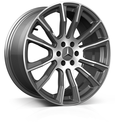 HAWKE Denali Alloy Wheels 20 inch 6x114 (ET40) | Gunmetal Polish x 4 | fits Mercedes X Class and Nissan SUVs models