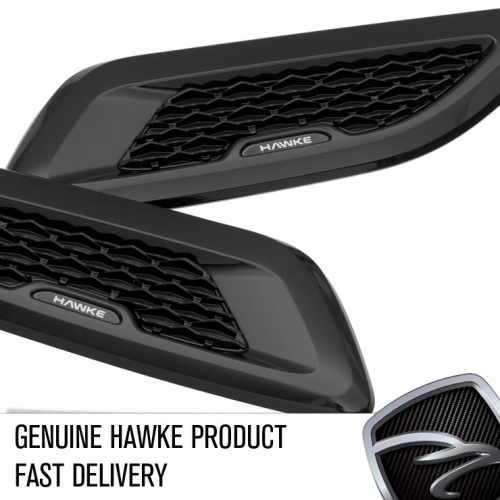 HAWKE Adhesive Bonnet vents Black with Black Mesh for Range Rover Evoque