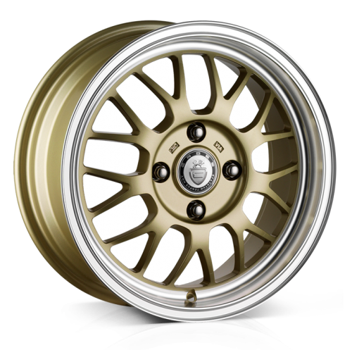 Cades Eros wheels 16 x 7J 4-100 | Gold Set of four