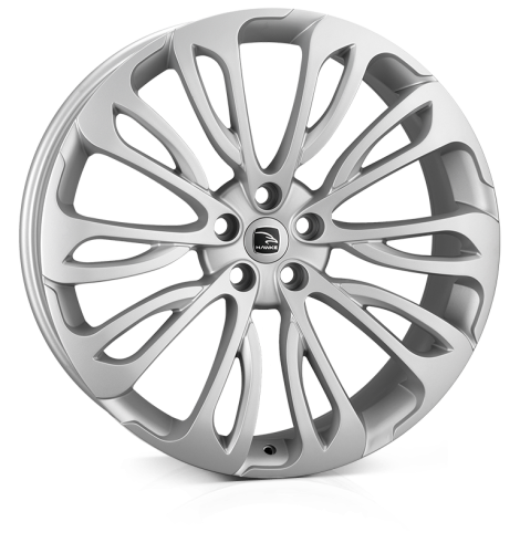 HAWKE Halcyon wheels 23 inch 5-120 | Matt Silver - Set of four