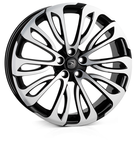 HAWKE Halcyon wheels 22 inch 5-108 | Black Polish - Set of four