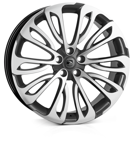 HAWKE Halcyon wheels 22 inch 5-120 | Gunmetal  Polish - Set of four
