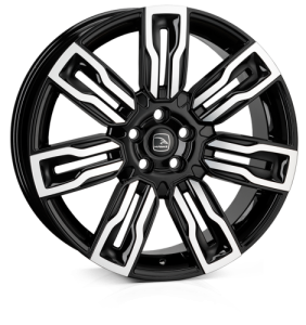 HAWKE Hermes Alloy Wheels 22 inch 5x108 (ET42) | Black Polish x 4