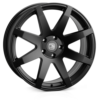 Hawke Knox 20 inch wheel finished in Matt Black; drilled to 6-114 stud pattern