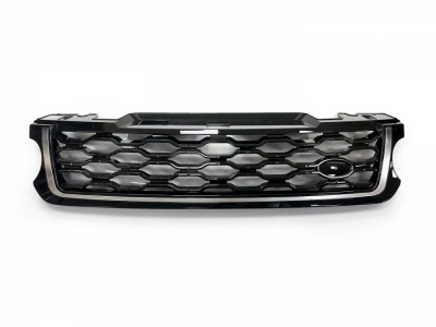 2018 Style Range Rover Sport L494 Black/Black/Silver Front Grille (For 2014-2017 cars)
