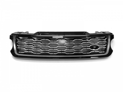 2018 Style Range Rover Sport L494 Black/Silver/Silver Front Grille (For 2014-2017 cars)