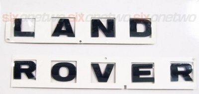 LAND ROVER Black Bonnet or Boot/Tailgate Letters