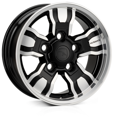 18x9.0 5-165 ET25 HAWKE Osprey Widetrack Black Polish