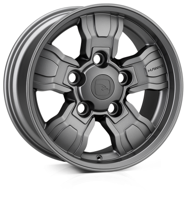 HAWKE Osprey Widetrack wheels 18 inch 5-165 | Matt Gunmetal - Set of four