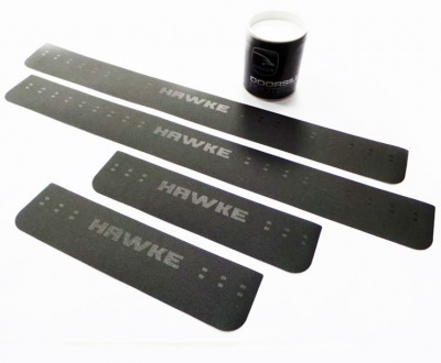 HAWKE Door Sill Protection Kit Leathergrain Vinyl for Land Rover Discovery 3 & 4