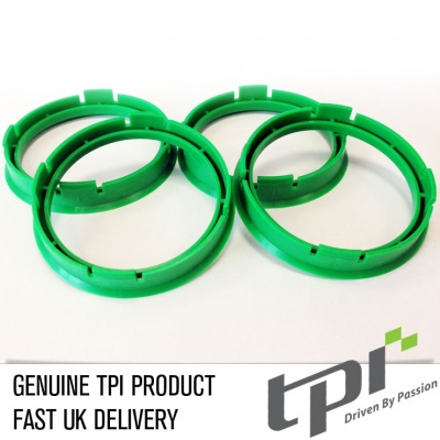 Set of Four Spigot Rings 60.1 - 57.1 Tpi Green
