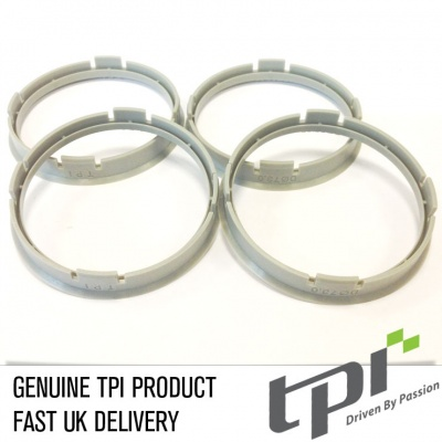 Set of Four Spigot Rings 73.0 - 66.6 Tpi Grey