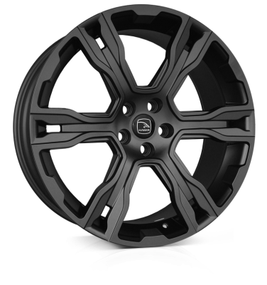 HAWKE Spirit Alloy Wheels 22 inch 5x120 (ET38) | Matt Black x 4 | fits Range Rover Sport, Vogue and Discovery models