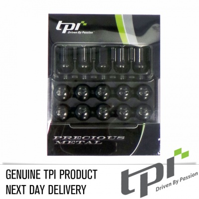 12x1.25 19 Hex 35mm TPi Alloy XR Nutz Black 20 Pack with Locks