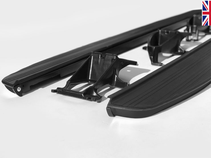 HAWKE Pattern Side Steps - SATIN BLACK Range Rover Sport L494 & Vogue L405 & Disco 5
