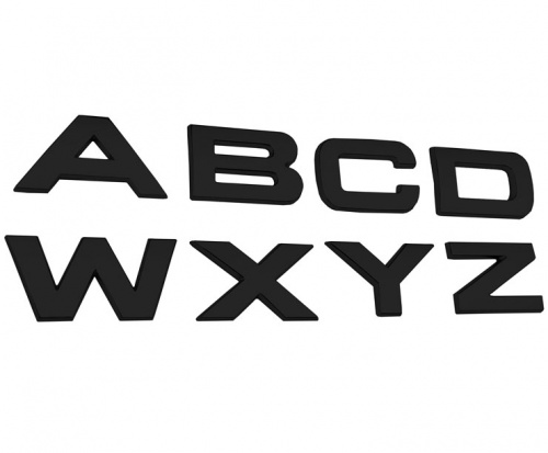 Range Rover Size 3D Matt Black Bonnet or Boot/Tailgate Letters - Single Letters of the Alphabet