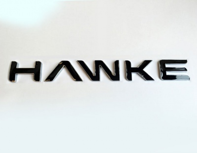 HAWKE Logo Chrome with Black infill Bonnet or Boot/Tailgate Letters