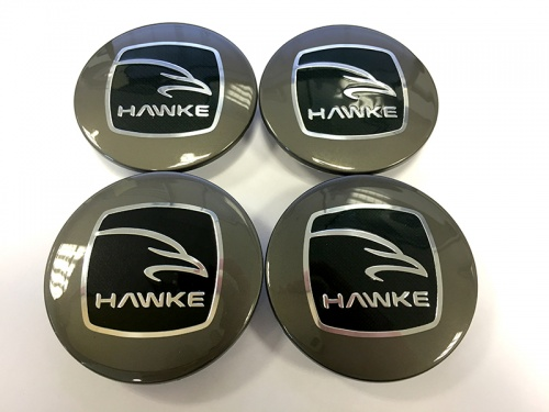 HAWKE Alloy Wheel Centre Caps - Gunmetal