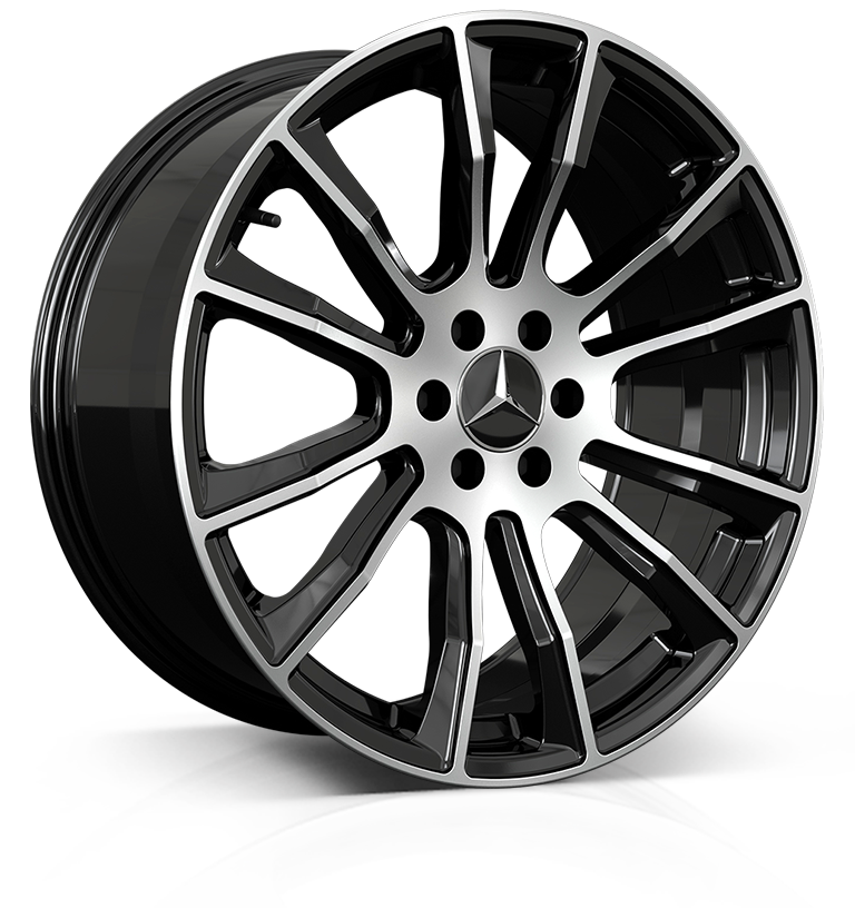 HAWKE Denali Alloy Wheels 20 inch 6x114 (ET40) | Black Polish x 4 | fits Mercedes X Class and Nissan SUVs models