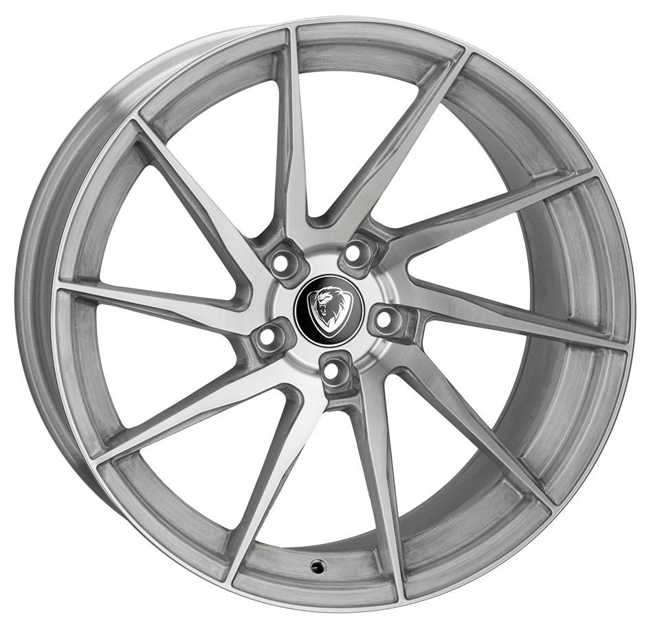 20x10.5 5-120 Cades Kratos Brushed Silver
