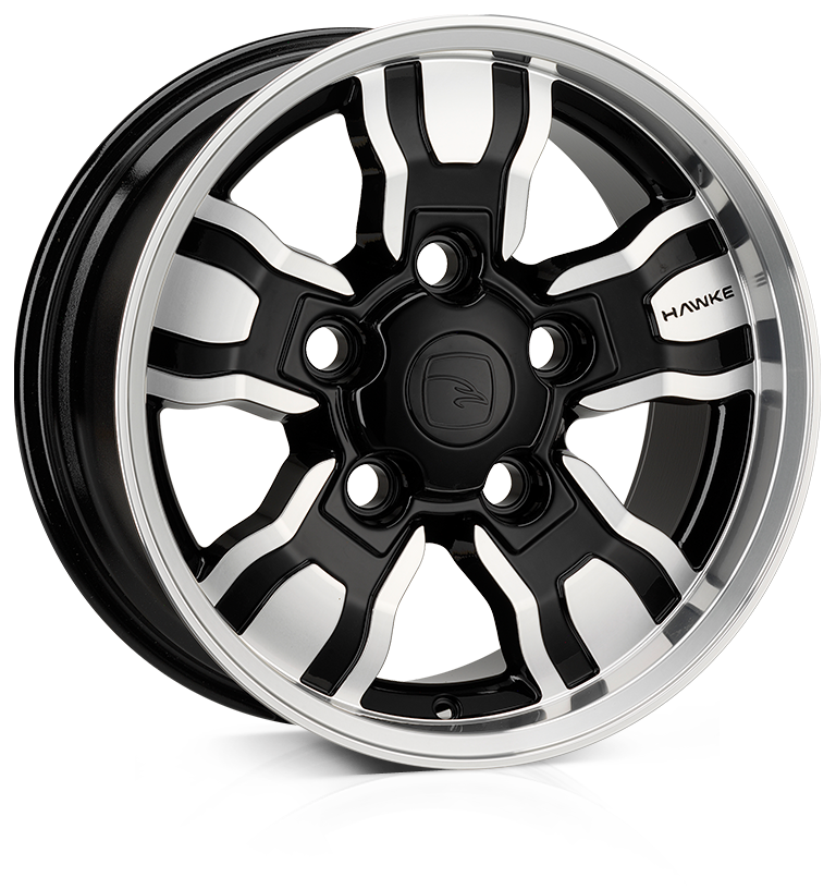 HAWKE Osprey WT Alloy Wheels 18 inch 5x165 (ET25) | Black Polish x 4