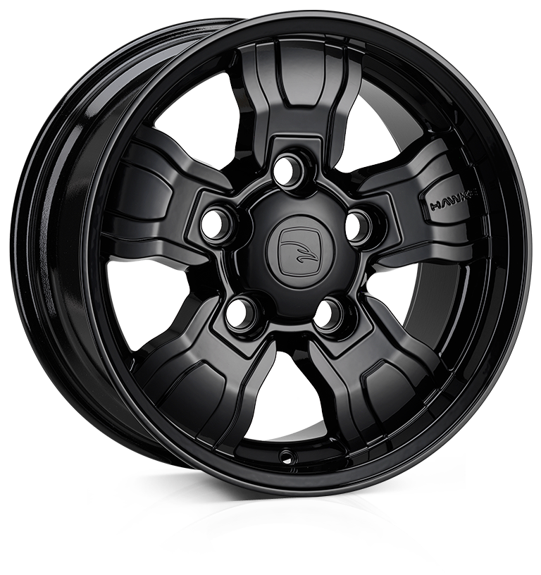 18x9.0 5-165 ET25 HAWKE Osprey Widetrack Black