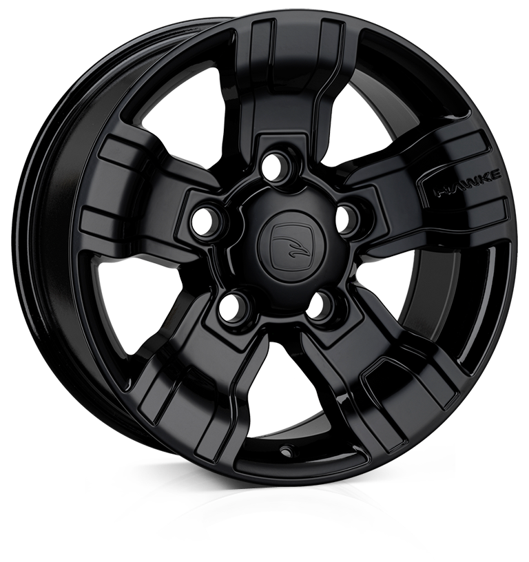HAWKE Osprey Alloy Wheels 18 inch 5x165 (ET20) | Black x 4 | fits Land Rover Defender models