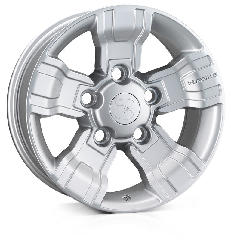 HAWKE Osprey Alloy Wheels 18 inch 5x165 (ET20) | Silver x 4 | fits Land Rover Defender models