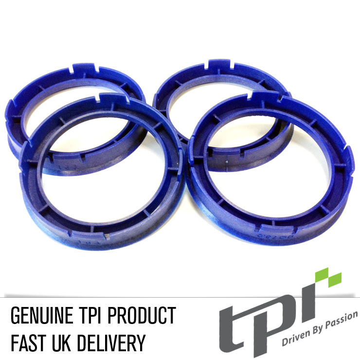 Set of Four Spigot Rings 73.0 - 56.6 Tpi Reflex Blue